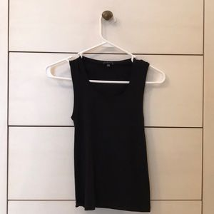 Theory Black Tank Top Scoop Neck One Size
